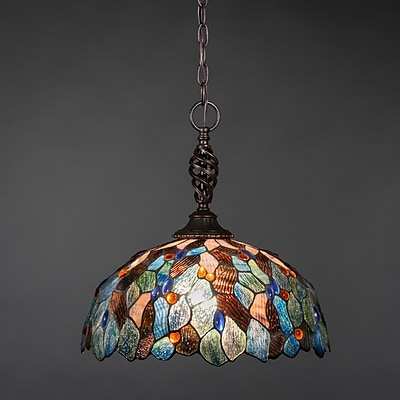 Toltec Lighting Elegant 1-Light Pendant; Italian Blue