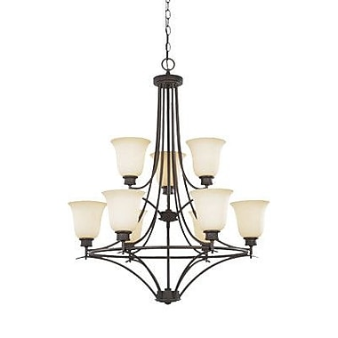 Designers Fountain Montego 9-Light Shaded Chandelier