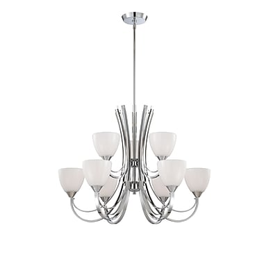 Designers Fountain Cortona 9-Light Shaded Chandelier