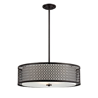 Designers Fountain Continental 3 Light Drum Pendant; 26'' W