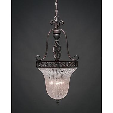 Toltec Lighting Elegant 3-Light Foyer Pendant; Italian Ice
