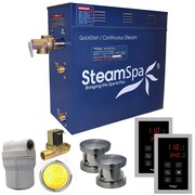 Steam Spa Royal 12 kW QuickStart Steam Bath Generator Package w/Built-in Auto Drain; Brushed Nickel