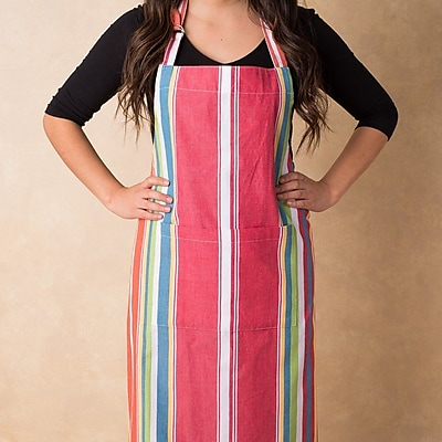 Linen Tablecloth Sunset Striped Chef Apron