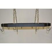 J & J Wire Hanging Pot and Pan Rack; Nickel