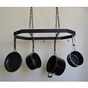 J & J Wire Hanging Pot and Pan Rack; Black