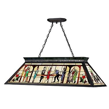 Z-Lite Tiffany 4-Light Billiard Light
