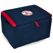 Imperial Upholstered Storage Ottoman; Boston Red Sox