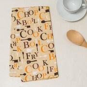 Linen Tablecloth Chef Print Kitchen Towel (Set of 2); Autumn
