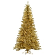 Vickerman 12' Gold/Silver Tinsel Christmas Tree with 2150 LED Clear Dura-Lit Lights
