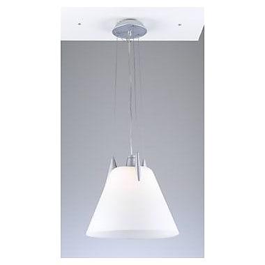 PLC Lighting Pinnacle 1 Light Pendant; Opal