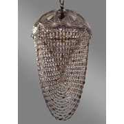 Classic Lighting Prague Color 1 Light Bowl Pendant; Crystalique Clear & Amber