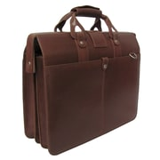 AmeriLeather Leather Doctor's Carriage Briefcase; Brown