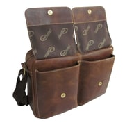 AmeriLeather Leather Briefcase; Brown