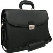 AmeriLeather APC Leather Executive Briefcase; Black