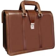 AmeriLeather APC Litigator Leather Executive Briefcase; Brown