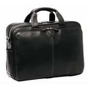 Johnston & Murphy Double Laptop Briefcase; Black Tumbled