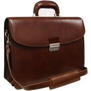 AmeriLeather APC Leather Executive Briefcase; Brown