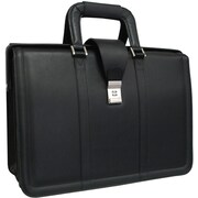 AmeriLeather APC Litigator Leather Executive Briefcase; Black