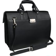AmeriLeather Leather Doctor's Carriage Briefcase; Black