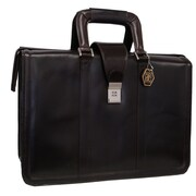 AmeriLeather APC Litigator Leather Executive Briefcase; Dark Brown