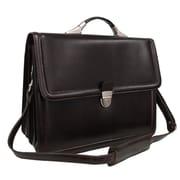 AmeriLeather APC Savvy Leather Executive Briefcase; Dark Brown