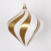 Vickerman Candy Glitter Swirl Diamond Ornament; Gold/Silver