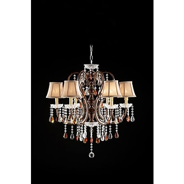 OK Lighting 6-Light Shaded Chandelier