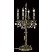 Elegant Lighting Rosalia 26'' H Table Lamp w/Novelty Shade; Pewter / Crystal (Clear) / Elegant Cut