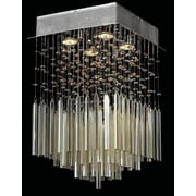 Worldwide Lighting Torrent 4 Light Semi Flush Mount; Golden Teak
