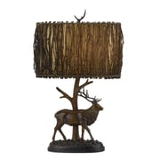 Cal Lighting Rustic 28'' H Table Lamp with Drum Shade