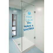 WallPops! Home Decor Line Keep Calm and Shower Quote Window Sticker
