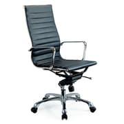J&M Furniture Comfy Desk Chair; Black