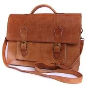 Ikram Design Leather Laptop Briefcase; Tan