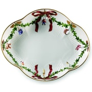 Royal Copenhagen Star Fluted Christmas Accent Dish
