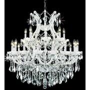 Elegant Lighting Maria Theresa 24 Light  Chandelier; White / Crystal (Clear) / Elegant Cut