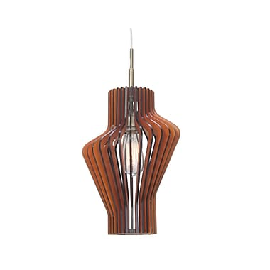 Woodbridge Canopy 1-Light Pendant; Cherry