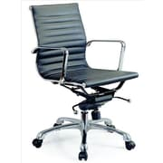 J&M Furniture Comfy Low-Back Office Chair; Black