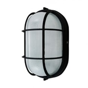 EfficientLighting 1 Light Outdoor Flush Mount; Black