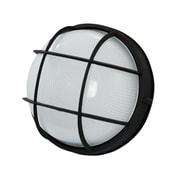 EfficientLighting 1 Light Outdoor Bulkhead Light; Black