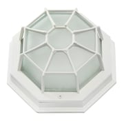 EfficientLighting 1 Light Outdoor Flush Mount; White