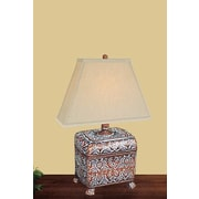 JB Hirsch Carved Box 21'' H Table Lamp with Rectangular Shade