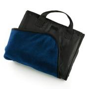 Pro-Towels Fleece and Nylon Picnic Blanket; Navy Blue