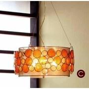 OK Lighting Capiz Shell 3 Light Pendent