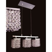 Classic Lighting Bedazzle 3 Light  Linear Chandelier; Crystalique-Plus Pink and Clear
