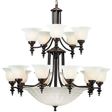 Dolan Designs Richland 18 Light Shaded Chandelier; Royal Bronze