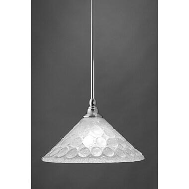 Toltec Lighting Stem Mini Pendant w/ Hang Straight Swivel; Chrome
