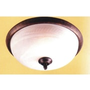 Classic Lighting 3 Light Semi-Flush Mount; Sand White