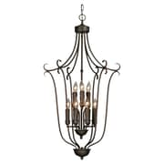 Wildon Home   Riviera Caged Foyer 9 Light Inverted Pendant; Rubbed Bronze