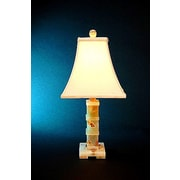 Rembrandt Home Chartreuse 22'' H Table Lamp with Square Shade