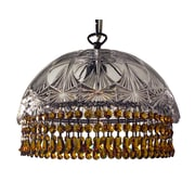 Classic Lighting Prague Color 1 Light Bowl Pendant; Crystalique Amber